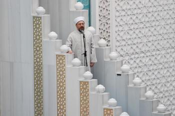 Diyanet İşleri Başkanı Erbaş'tan Ahmet Hamdi Akseki Camii'nde Cuma Hutbesi