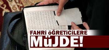 Cumhurbaşkanından Fahri Kur'an Kursu Öğreticilerine ve İmamlara Müjde!