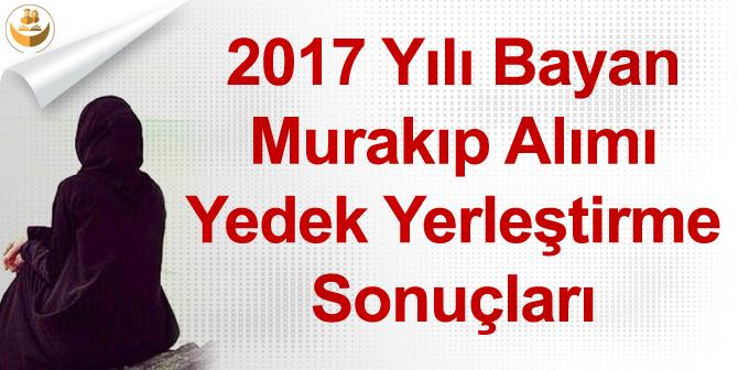 2017 Yılı Bayan Murakıp Alımı Yedek Yerleştirme Sonuçları