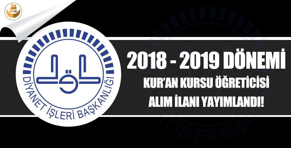 Kırklareli Müftülüğü 2018-2019 Eğitim Yılı Kur'an Kursu Öğreticisi Alımı
