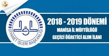Manisa İl Müftülüğü 2018-2019 Yılı Geçici Kur'an Kursu Öğreticisi Alımı