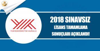 2018 Sınavsız İlitam İlahiyat Tamamlama Sonuçları Açıklandı