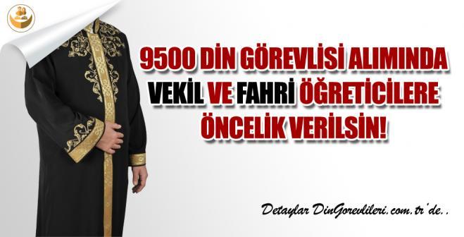 Diyanet, 9500 Personel Alımında Vekil ve Fahri Öğreticilere Öncelik Verilsin!