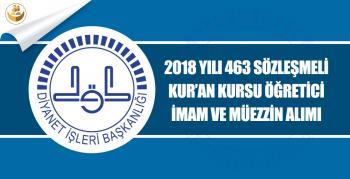 Diyanet, Sözleşmeli 463 Kur'an Kursu Öğreticisi, İmam Hatip ve Müezzin Kayyım Alımı Yapacak!