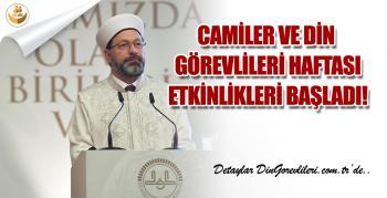 Diyanet'in Reis Erbaş, Camiler ve Din Görevlileri Haftası Etkinlikleri Başladı!