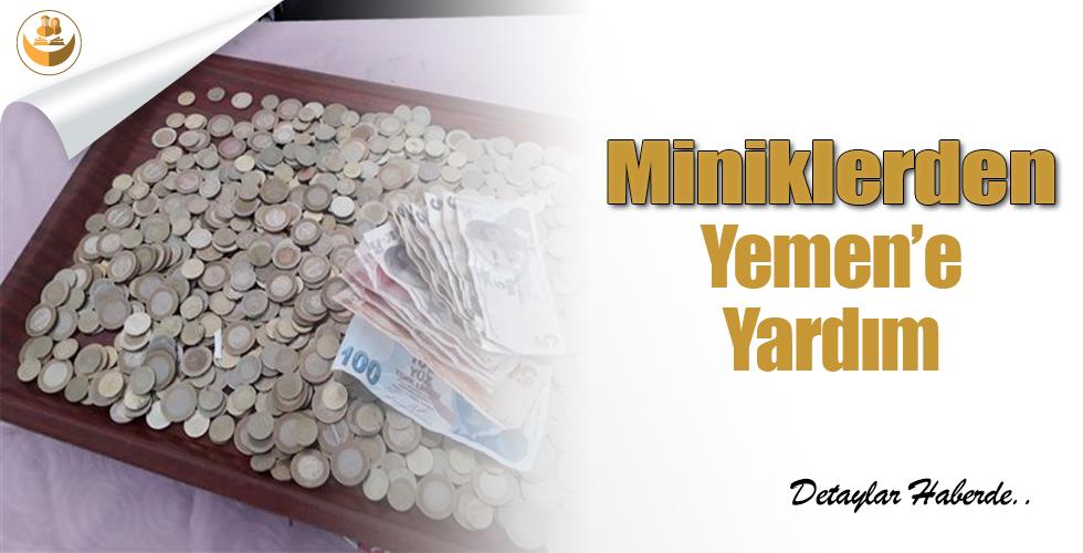 Miniklerden Yemen'e Yardım