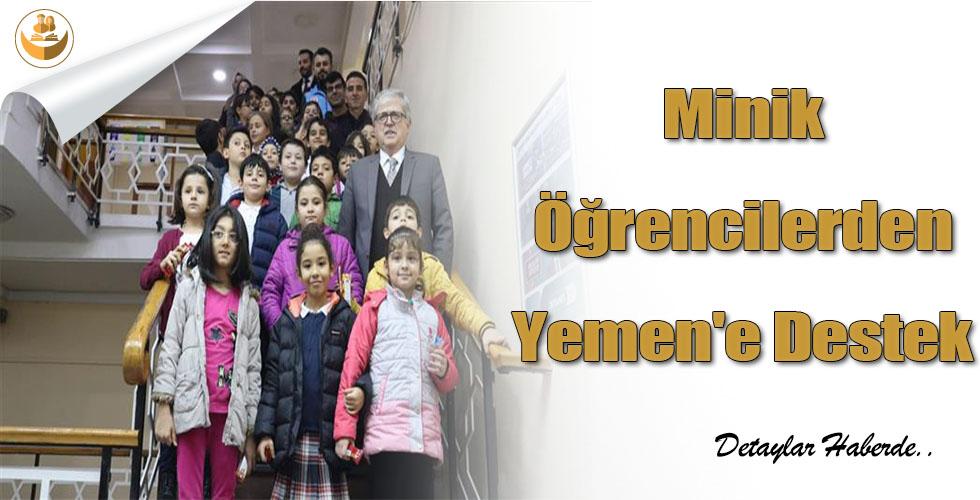 Minik Öğrencilerden Yemen'e Destek