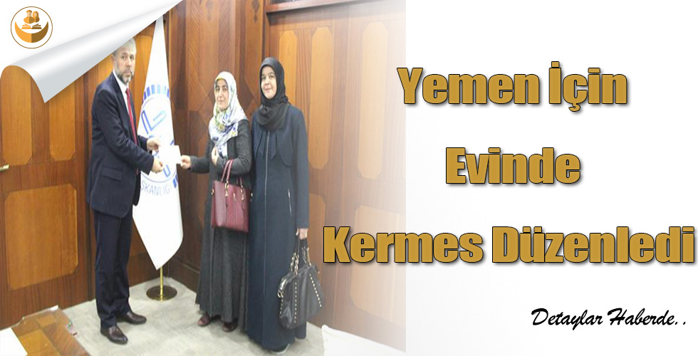 Yemen İçin Evinde Kermes Düzenledi