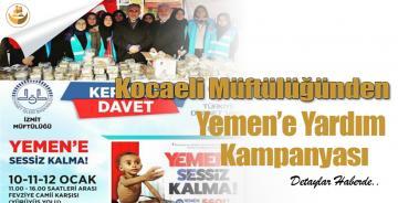 Kocaeli Müftülüğünden Yemen'e Yardım Kampanyası