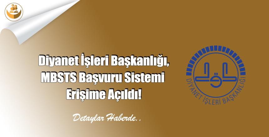 Diyanet İşleri Başkanlığı, MBSTS Başvuru Sistemi Erişime Açıldı!