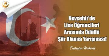 Nevşehir'de Lise Öğrencileri Arasında Ödüllü Şiir Okuma Yarışması!