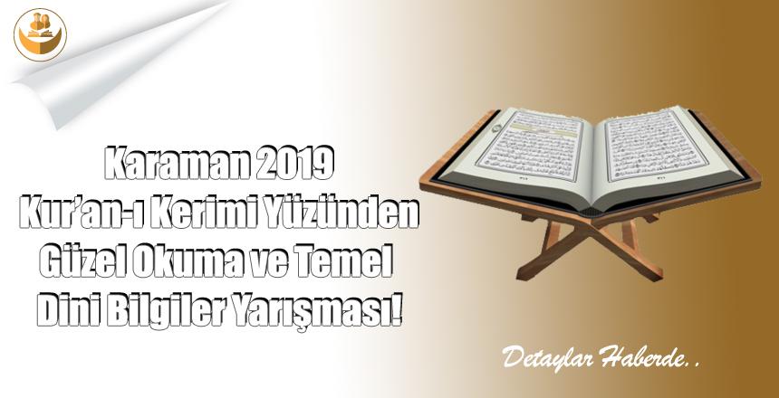 Karaman 2019 Yılı Kuran ı Kerimi Okuma Ve Temel Dini Bilgiler