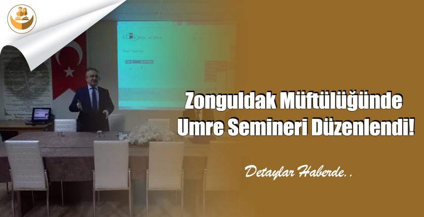 Zonguldak Müftülüğünde Umre Semineri Düzenlendi!