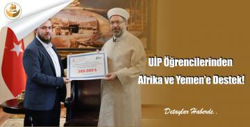 UİP Öğrencilerinden Afrika ve Yemen'e Destek!