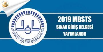 ÖSYM, 2019 MBSTS Giriş Belgelerini Yayımladı!