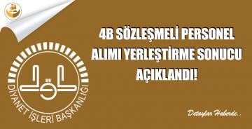 9500 KKÖ, İmam ve Müezzin 4B Sözleşmeli Personel Yerleştirme Sonuçları Açıklandı
