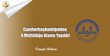 Cumhurbaşkanlığından 4 Müftülüğe Atama Yapıldı!