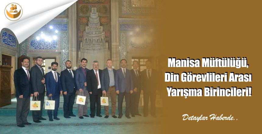 Manisa Müftülüğü, Din Görevlileri Arası Yarışma Birincileri!