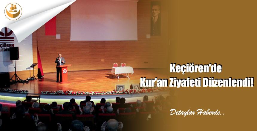 Ankara Keçiören'de Kur'an Ziyafeti Düzenlendi!