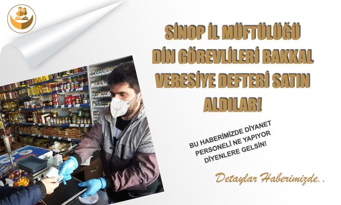 Sinop Müftülüğü Din Görevlileri Bakkal Veresiye Defteri Satın Aldı!